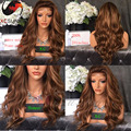 8A Grade Ombre Full Lace Human Hair Wig Piano Color Lace Front Wig Brazilian Virgin Hair Wavy 200 Density Human Hair Blonde Wigs