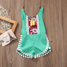 2017 New Baby girl Clothing Girls Shorts Floral Baby Girls Overalls Cute Kids Summer Clothes Girl shorts
