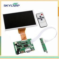 Skylarpu 9inches inches polegadas raspberry pi display lcd tela tft monitor at090tn12 com hdmi vga entrada driver board controlador 800*480 wvga