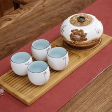Japanese wooden tea tray