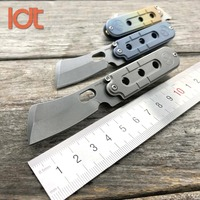 LDT Bean Mini Key Chain Butcher Folding Knives S35VN Blade Titanium Handle Survival Pocket OEM Camping