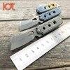 LDT Bean Mini Key Chain Butcher Folding Knives S35VN Blade Titanium Handle Survival Pocket OEM Camping