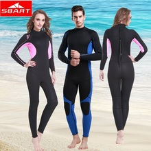 SBART 3MM Neoprene Anti-UV one-piece swimsuit sunprotection clothes jellyfish clothes winter snorkeling diving go well with rushguards