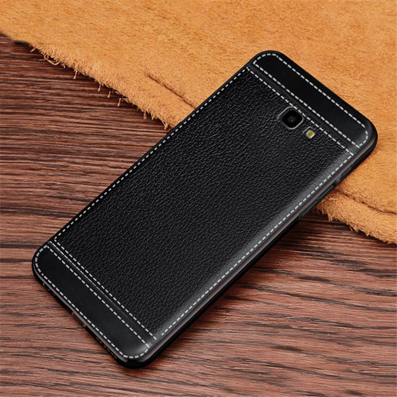 J4 Plus Case Leather Texture Soft TPU Silicone Case Cover For Samsung Galaxy J4 Plus 2018 J4 Prime J415F J415 SM-J415F J4+