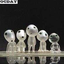 5 шт. фигурка аниме игрушки световой Кодама treehayao Миядзаки Принцесса Мононоке дерево эльфы дух Кодама эльф мультфильм дети игрушки