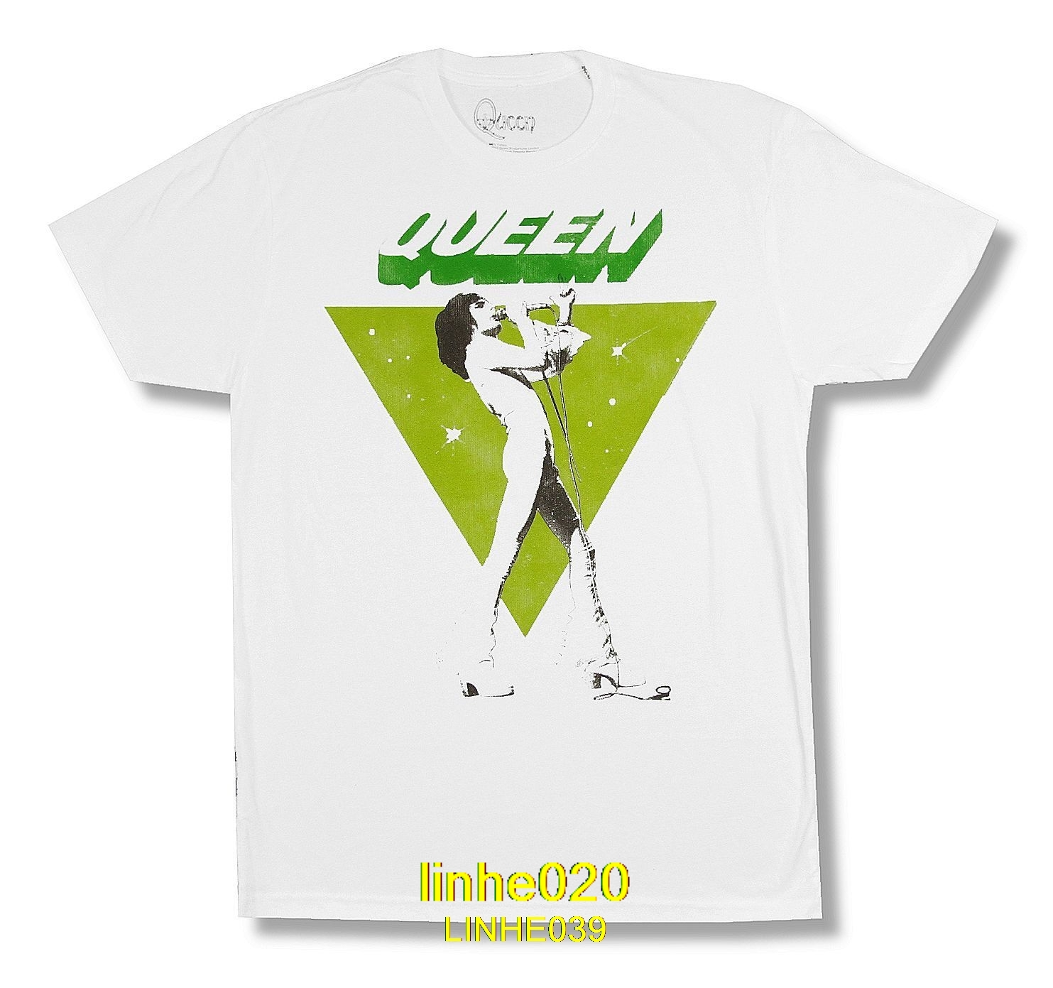 f3502577c6c6 Queen Freddie Sings Image White T Shirt New Official Band Merch Soft 2019  New 100%