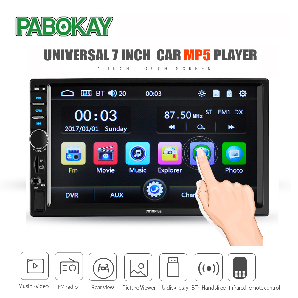 2 din Car Multimedia Player GPS Navigation with Map 7 inch HD Touch Screen Bluetooth Radio MP3 MP5 Player Radios image