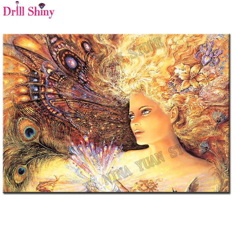 New 5D DIY Diamond Painting Fantasy Butterfly Fairy Full Square Diamond Embroidery Mosaic Pattern Painting Rhinestones Stickers
