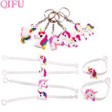 QIFU Unicorn Party Balloons Birthday Gift For Children Unicornio Decorations Kids Favors Happy Set