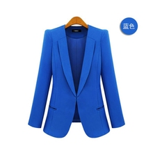 цена на Brieuces new Ladies  Feminino Plus Size 4XL Formal Jacket Women's White Blaser Rosa Female Blue Women Suit Office Ladies