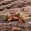 1 шт Винтаж Античная Бронза Серебро Позолоченный Water Drop Подвеска Стекла Желудь Дуб Кулон Ожерелье Для Женщин