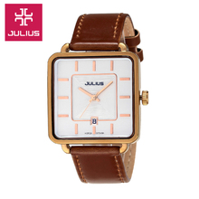 Men s Women s Wrist Watch Quartz Hours Best Fashion Dress Bracelet Leather Clock Square Lovers