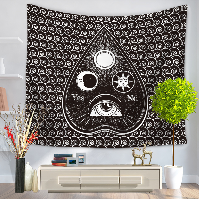 Image 4 - CAMMITEVER Geometry Skull Eyes Hot Sale Tapestry Indian Mandala Tapestry Hippie Wall Hanging Tapestries Boho Bedspread New In-in Tapestry from Home & Garden
