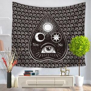 Image 4 - CAMMITEVER geometría calavera ojos gran oferta tapiz indio Mandala tapiz Hippie tapices para colgar en la pared Boho colcha nuevo en