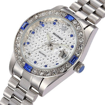 Rhinestone Womens Quartz Gold Wrist Watch 1