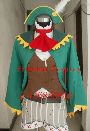Monster Hunter 4 signboard visible record waitress Kanban musume Cosplay Costume(China)