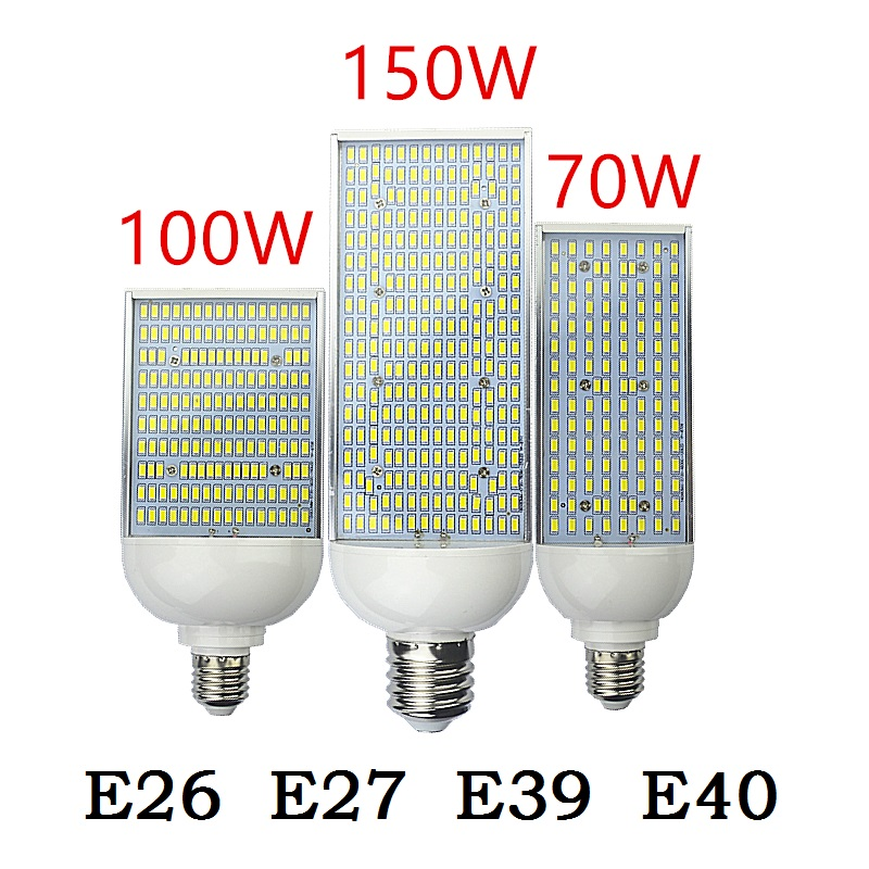 E27 E40 LED street light E26 E39 70W 100W 150W corn Bulbs Lamp 110V