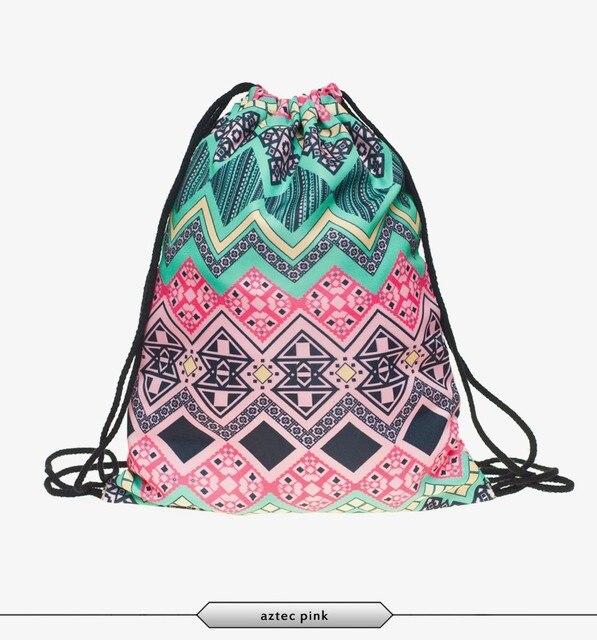 Fashion Geometry print Backpacks Drawstring Bags casual casual ...