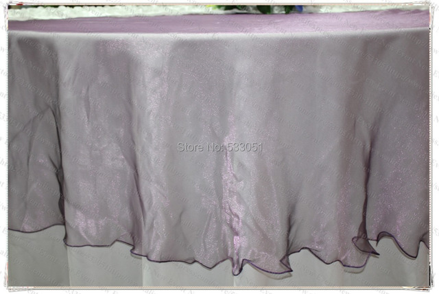 180cm Round NO.12 Plum Color Organza Table Overlay/Table Cover/Tablecloth  For