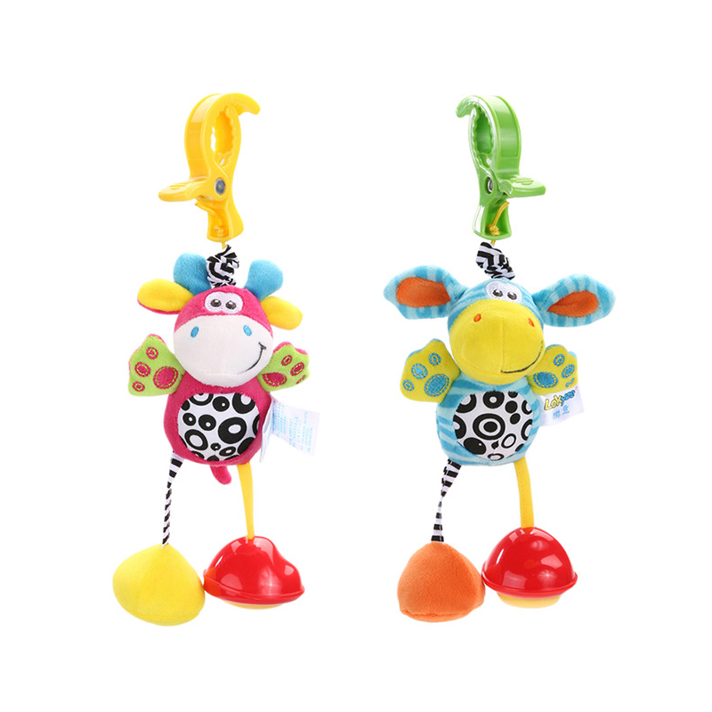 Baby Rattle Toys For 0-12 Months Infant Newbron Animal Lion Plush Toy Hand Bell Stroller Crib Pram Hanging Rattle Baby Toys Gift