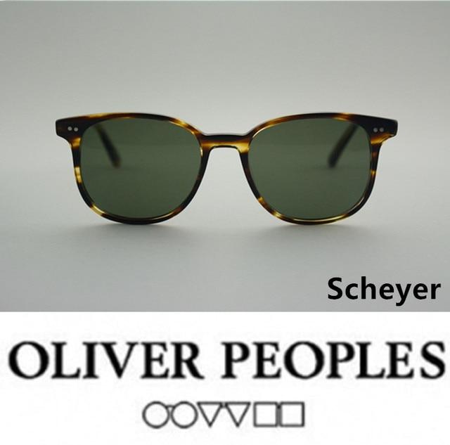 No burden Vintage sunglasses men brand design oliver peoples Scheyer sunglasses design ov5277u polarized sunglasses lens