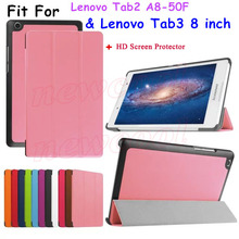 2016 Новинка Tab3 8 дюймов Tablet TB3-850M чехол откидная крышка для Lenovo Tab3 Tab 3 8 дюймов чехол для планшета Tab2 A8 A8-50F Тонкий Корпус + подарок