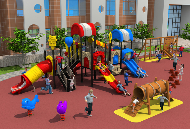 CE,ISO,TUV Outdoor Playground Garden Plastic Slide Pepsi House Series Kids  Outdoor Games