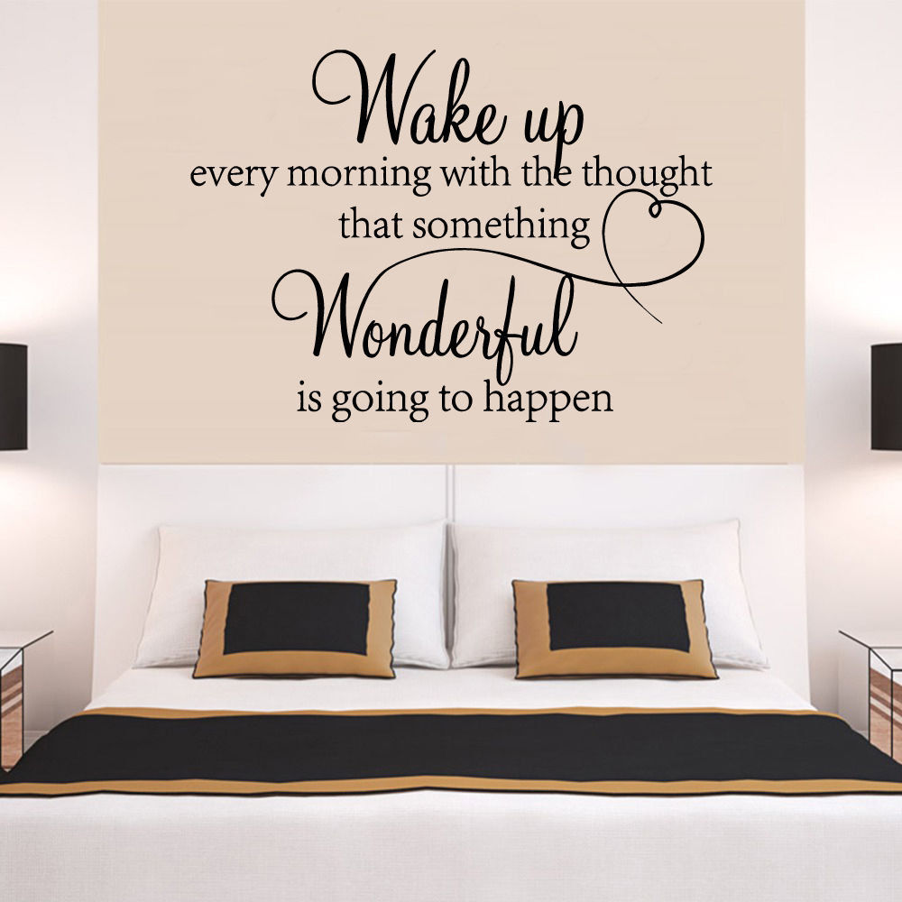 Superb Wake Up Have Hope Words Quote Wall Decal Bedroom Vinyl Art Wall Stickers  Home Decor Room Amazing Design