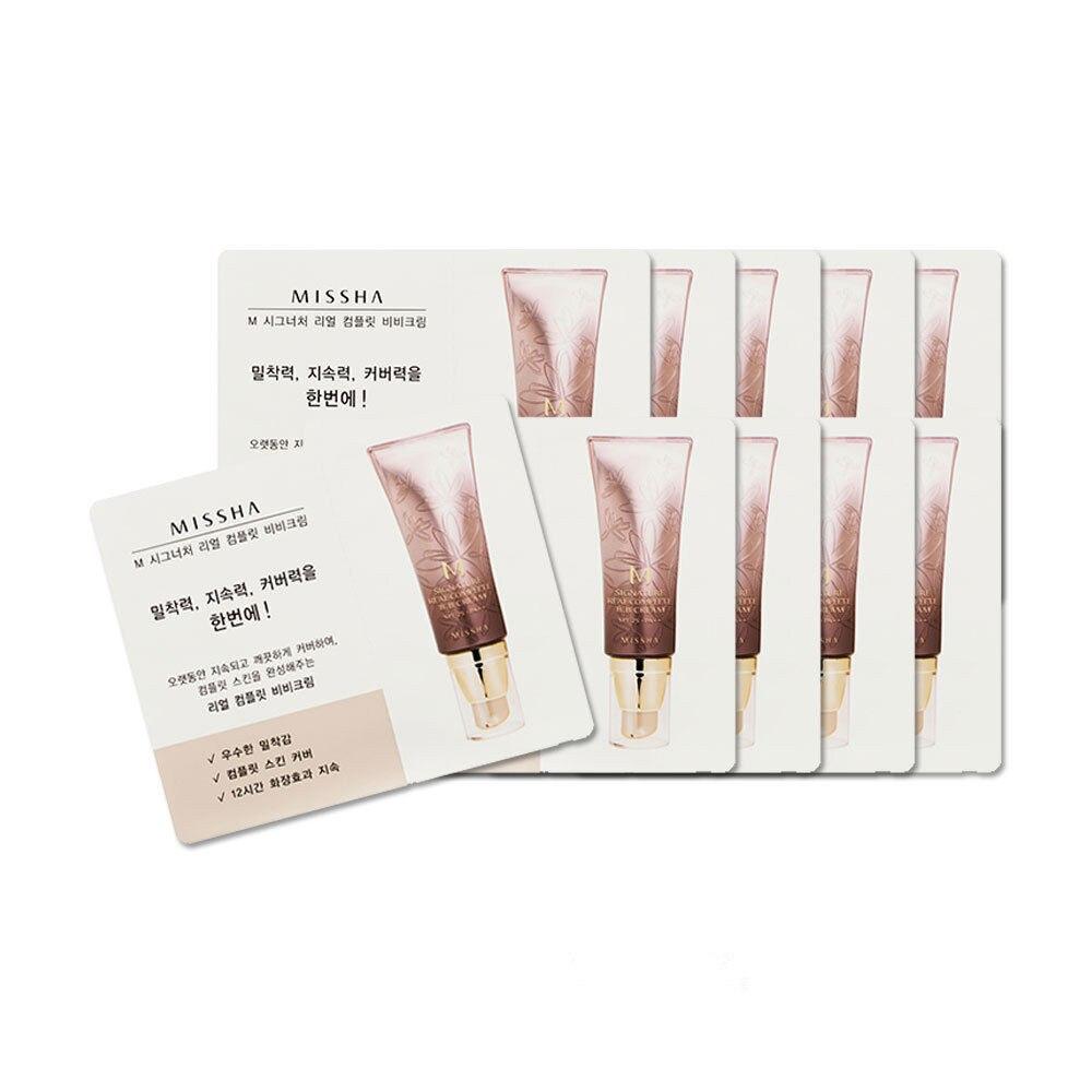 Korean Cosmetics 10pcs/lot MISSHA M Signature Real Complete BB Cream SPF25 PA++ Samples Foundation Moisturizing