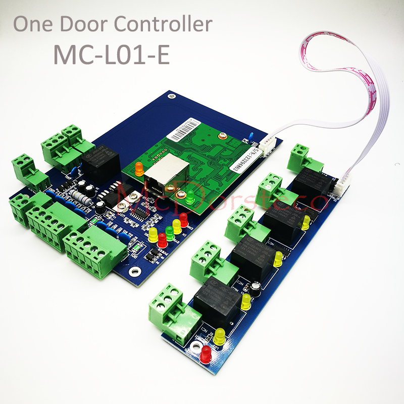 High Quality TCP/IP RFID Access Control System One Door Access Panel LAN Interface Gate Access Controller +Alarm Expansion Board gate one