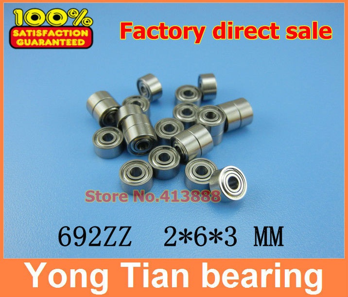 50pcs free shipping thin wall deep groove ball bearing 692ZZ 2*6*3 mm gcr15 6326 zz or 6326 2rs 130x280x58mm high precision deep groove ball bearings abec 1 p0