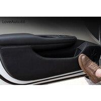 Car Door Protector Pad Door Plank Anti Kick Pad Anti dirty Mat Cover Sticker For Skoda Octavia 2015 2019 A7 A4 A5 Accessories