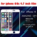 cover for iPhone 6 Complete Covering Anti-Explosion Tempered Glass Screen Protector For Apple iPhone 6S(4.7inch) free shipping