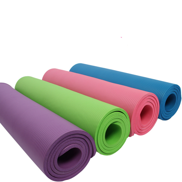 be70377eb BalanceFrom GoYoga All-Purpose 1 2-Inch Extra Thick High Density Anti-Tear  Exercise Yoga Mat with Carrying Strap