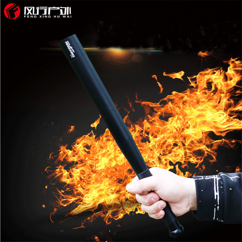 Baseball Flashlight Tactical Security Stick T6 XML LED baton power bank USB phone Charger 18650 Patrol Self-defense truncheon