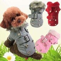 High Quaity Warm Dog Clothes Pet Dog Handsome Woolen Coat Cute Dog Thicken Coat Jacket Dog