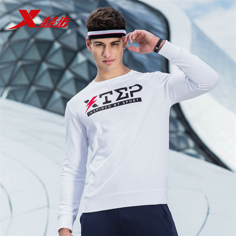 882329059282 Xtep men hoodies sweater neck mens head casual letter breathable running sport