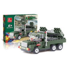 Armed pickup truck Army Military Soldiers Tank Guns Building Blocks Bricks Minifigure Toys birthday present Christmas gift