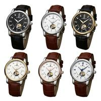 Sunblon - Automatic Mechanical Watch With Leather Band 5