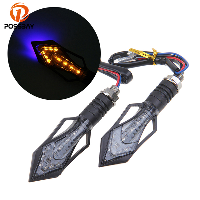 Possbay Arrow Shape Led Motorcycle Dirt Bike Turn Signals Blinker