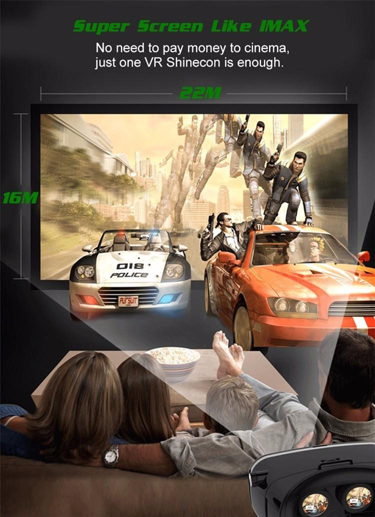 Original VR Shinecon Virtual Reality VR Box 3D VR Glasses Game BOX Google board For 4.0-6.0 Inch smartphone 3