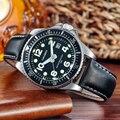 Мужские часы CAGARNY Militray  спортивные кварцевые часы из кожи  водонепроницаемые  2019