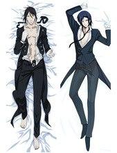 Black Butler Kuroshitsuji Sebastian Michaelis Anime Hugging Body Pillow Case Cover Bedding Pillowcases 71009
