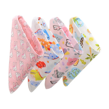 Baby Bibs Cotton Baby Feeding Apron Triangle Cute Baby Bibs Girls Boys Cartoon Feeding Scarf Bib Collar Bib Burp Cloth