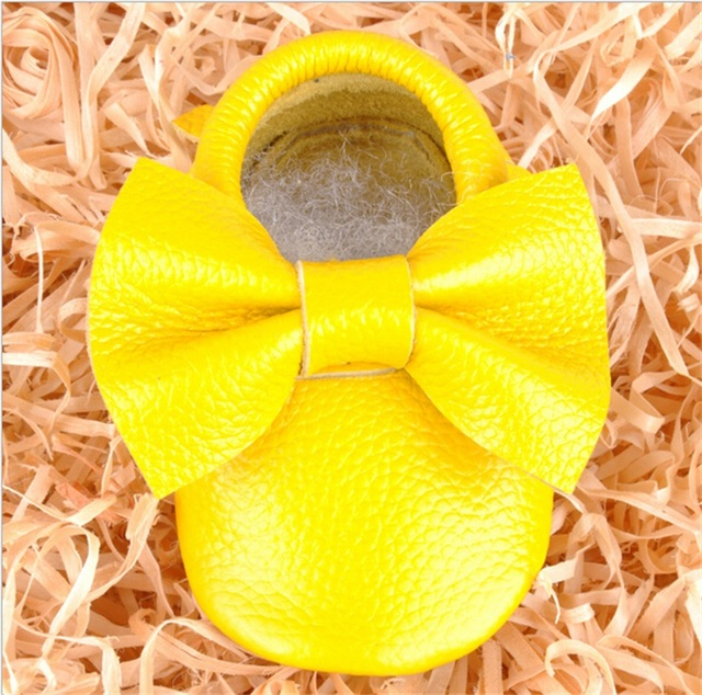 Yellow Shoes Baby Girl Bow-Knot Soft Sole Infant Shoes Gift Multicolor Fashion Baby Shoes Soft Bottom Yellow Shoes Baby Girl