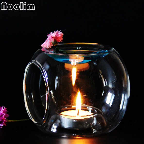 NOOLIM New Design Glass Oil Burner High Quality Candle Aromatherapy Oil Lamp Gifts And Crafts Home Decorations Aroma Furnace