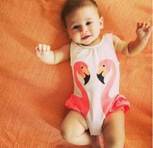 boys swimwear baby girls swimsuit cute beach baby swimwear girl 2018 pink black Firebird White Swan infant uv clothing flamingo