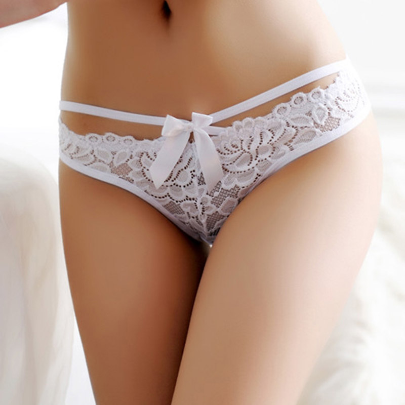 Fashion Women Lingerie Thong Panties Sexy Lace Floral G -8028
