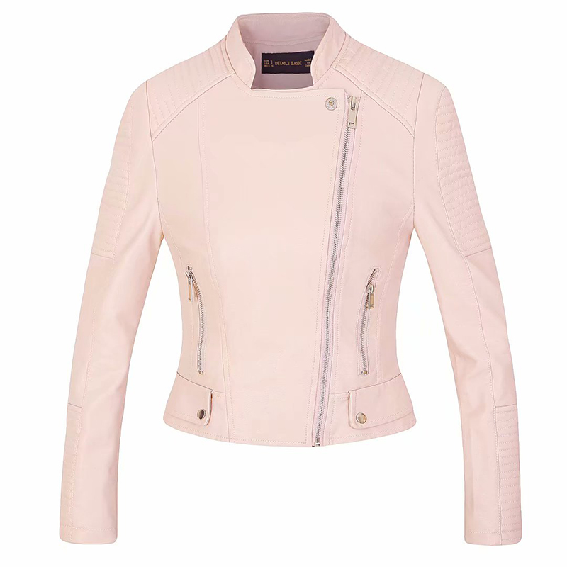 cool girls zipper slim pink coats chic fashion women   suede     leather   jackets 2019 autumn ladies short bomb jacket