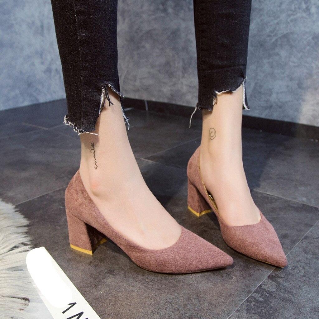 862760c75d2 slip Été Bout Haute pourpre Profonde Pointu Peu Femmes Mode Chaussures  Nouvelle 2019 De Troupeau Non Sexy Printemps Mocassins ...